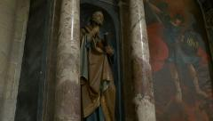 Statue of Saint Peter Stock Footage