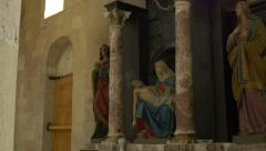 Virgin Mary and Jesus Statues Stock Footage