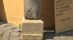 View of the Journeymen's Pillar in Sibiu Stock Footage