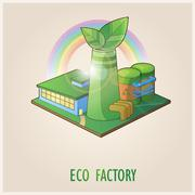 Eco Factory - stock illustration