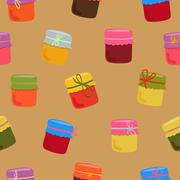 Bright jam pattern - stock illustration
