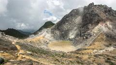 4K Timelapse of Sibayak Volcano Crater, Berastagi, Sumatra, Indonesia. Stock Footage