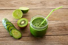 Detox green juice cleansing recipe - stock photo