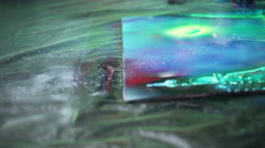 Drawing spray paint Stock Footage