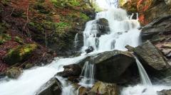Wonderland. Wonderful waterfall in mystery forest. Stock Footage