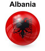 Albania official state flag Stock Illustration