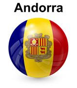 Stock Illustration of andorra official state flag