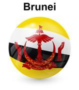 Brunei official state flag Stock Illustration