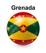 grenada state flag - stock illustration