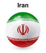Iran official state flag Stock Illustration