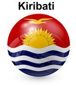 Kiribati official state flag Stock Illustration