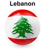 Lebanon official state flag Stock Illustration