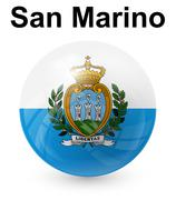San marino official state flag Stock Illustration