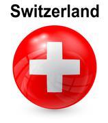 Switzerland official state flag Stock Illustration
