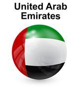United arab emirates official state flag Stock Illustration