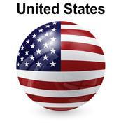 United states flag, button ball Stock Illustration