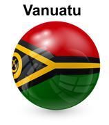 Vanuatu official state flag Stock Illustration