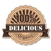 label Delicious - stock illustration