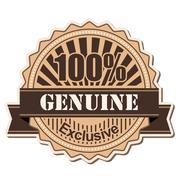 label Genuine - stock illustration