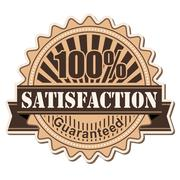 label Satisfaction - stock illustration