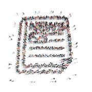 Stock Illustration of people  shape  certificate cartoon