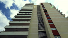 4K Establishing shot,tall,classic,many storey building,Athens, Greece,low angle Stock Footage