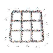 People  shape  abstract symbol Stock Illustration