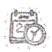 people  shape  calendar cartoon - stock illustration