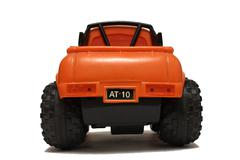 Toy orange car on white background Stock Photos