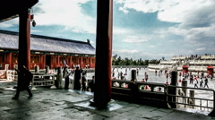 The panorama view of Qinian Hall in the Temple of Heaven, Beijing, China. Stock Footage