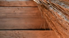 Still life with wheat and barley on the wooden crate, zoom out Stock Footage