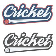 Vintage cricket label and badge Stock Illustration