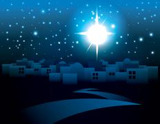 Bethlehem Christmas Star Illustration Piirros