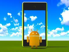 Android - stock illustration