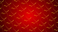 wedding abstract background, gold heart, loop - stock footage
