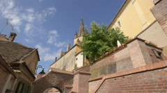 The Stairs' Passage in Sibiu Stock Footage