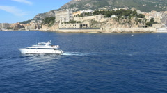 Monaco Aerial coastline yacht tourism outdoor sailing travel Stock Footage