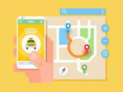 Taxi application Stock Illustration