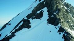 Aerial Eiger Switzerland Grindelwald Rock Peak summit - stock footage