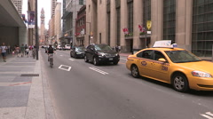 Toronto downtown financial and business district during stock market crash Stock Footage