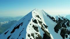 Aerial Eiger Switzerland Grindelwald Rock Peak summit Stock Footage