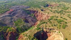 Aerial view of landslide - stock footage