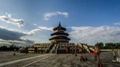 Walking around the Qinian Hall in the Temple of Heaven, Beijing, China. - stock footage