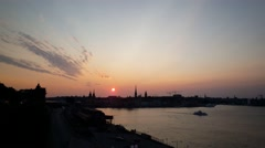Sunset time lapse from Gamla stan in Stockholm Stock Footage