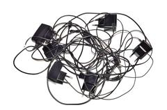 Charging cables - stock photo