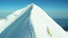 Aerial Switzerland Monch mountain Alps Range travel Stock Footage