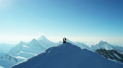Stock Video Footage of Aerial Switzerland travel Top Of The World sport mountain Alps