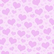 Pink Hearts Tile Pattern Repeat Background Stock Illustration