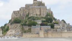 Mont Saint Michel island near La Manche in Normandy France 4K 3840X2160 UHD v Stock Footage