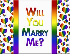 LGBT Will You Marry Me Message - stock illustration